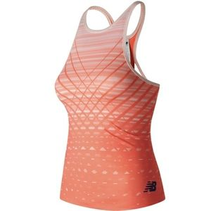 New Balance Orange Printed Fitted Tank Top